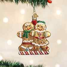 *Gingerbread Friends* [32219] Old World Christmas Glass Ornament - NEW