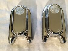 HARLEY CHROME REAR AXLE SWINGARM COVERS
