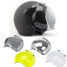 SMOKE Bubble Style 3-Snap Motorcycle Helmet Visor Flip Up Face Shield Lens