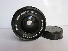 Canon SC 28mm f2.8 FD Mt Manual focus Wide Angle lens w back cap.Exc Condition.