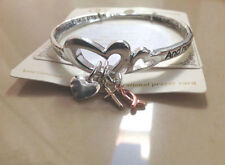 Corinthians 13:13 twisted bracelet (mobius) heart cross fish charms  7.5""