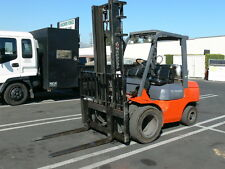 "2004 Toyota 7FGU30 Forklift 6000# w/ 48"" Back, Side Shift, 154"" High Solid Tires"