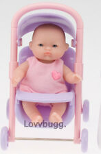 "5"" Baby Sister Mini +Stroller for 18"" American Girl Doll Wow Accessory Selection"