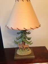 THOMAS KINKADE DEER LAMP