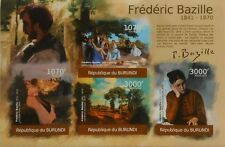 Frederic Bazille paintings m/s Burundi Sc.1034 MNH #BUR12103a IMPERF