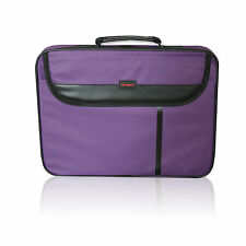 "15.6"" WIDESCREEN LAPTOP BAG NOTEBOOK CARRY CASE SHOULDER STRAP PURPLE"