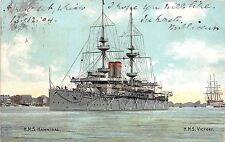 B94254 h m s hannibal h m s victory ship bateaux uk