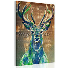 Deer Unframed Canvas Prints Modern Home Decor Wall Art Picture Room Retro Poster