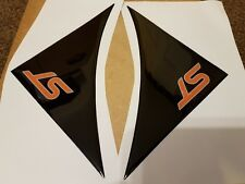 Ford ST Focus, Fiesta wing domed gel badges, ORANGE ST