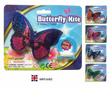 MINI BUTTERFLY Flying Kite Childrens Kids Line Kite Outdoor Park Beach Fun Toy