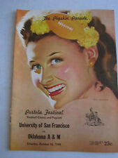 1948 U.S.F. VS OKLAHOMA A & M - FOOTBALL GAME PROGRAM - BOX C
