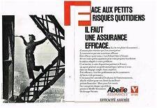 Publicité Advertising 1987 (2 pages) Les Assurances Abeille