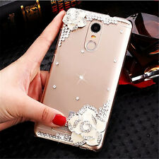 Bling Crystal Gems Diamonds Thin Clear Soft Back Shell Case Cover For Samsung #A