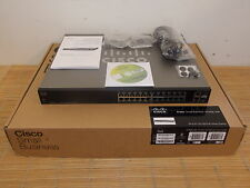 NEW Cisco SF200E-24P SMALL BUSINESS CSB 24x 10/100 PoE PORT SMART SWITCH NEU BOX