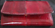 Vintage Eel Leather Key  Finder Case Holder Burgandy Red