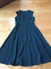 Ann Taylor Petite Fit And Flare Dress Size 2 P Dark Green
