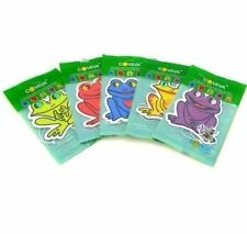 10 X FROG HANGING CAR VALET AIR FRESHENER SCENTED ASSORTED LIME SPICE VANILLA