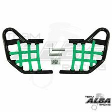 Yamaha Raptor 250 125  Nerf Bars  Alba Racing  Black bar Green net     192 T1 BG
