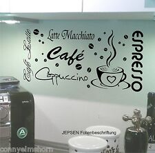 Wandtattoo Cafe Espresso Latte Cappuccino 70x31cm Set M7 Wandtatoo Sprüche