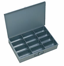 4 Large Metal 12 Compartment / Hole Storage tray's for Nuts, Bolts & Washers 115