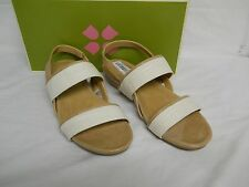 Naturalizer New Womens Frazzle White Sand Wedge Slingback Sandals 7.5 M Shoes