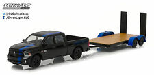 Greenlight 1:64 Hitch & Tow Series 7 2015 Ram 1500 Mopar and Flat Bed Trailer