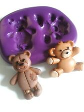 TEDDY BEARS flessibile stampo in silicone cupakes TORTA DECORARE PASTA DI ZUCCHERO GLASSA Strumento