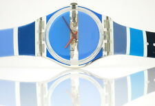 BLUE PAINTED TIME by Stephen Dean - Swatch Gent - GK376 - NEU und ungetragen