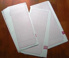 30 BLANK PUNCHCARD (24 Stitch) machine knitting Brother/SilverReed/Studio/Singer