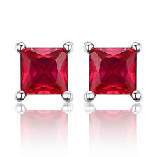 JewelryPalace 0.86ct Platz Rot Rubin Ohrstecker Ohrring 925 Sterling Silber