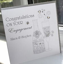 Personalised Handmade Engagement Card Bubbly by Charlotte Elisabeth E002