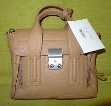 NWT 100% Authentic 3.1 Phillip Lim Pashli Mini Shark-Embossed Leather Satchel!