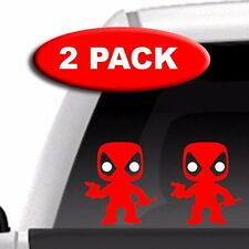 Mini Deadpool - 2 PACK - Vinyl Decal, Marvel, Comic, Toys, Figures, Car