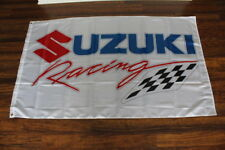 New Suzuki Racing Team Flag Garage Sign Banner Motorcycle Bike Biker Motocross