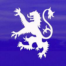 Blanco León Rampante Pegatina de Coche-símbolo/Royal Standard escocés de Escocia
