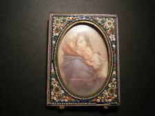 """Very Old Italian Glass Bead Picture Frame, 3""""x3.74"""", """"MADE IN ITALY"""" and """"21350"""""""