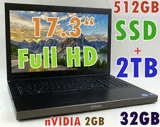 (3D-Design 17.3) DELL M6600 i7-2920XM Extreme (512GB-SSD+2TB 32GB) NV-3000M