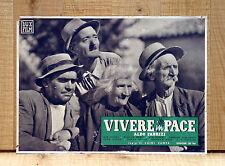 VIVERE IN PACE fotobusta poster affiche Aldo Fabrizi Ave Ninchi Gar Moore 1947