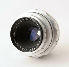 E Ludwig Meritar 50mm f2.9 Preset Lens Red V Exa Exakta Mount - LIGHT FUNGUS