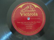 """ALMA GLUCK~FROM THE LAND..BLUE WATER~ONE SIDED~1908~64190~78RPM~10""""~VICTROLA~VG"""