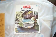 Showroom brochure 71 GMC Rally Van Vandura 1969 70 71 72 NOS GM