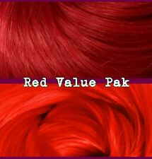 Reds XL 4oz 2 Color Value Pack Nylon Doll Hair to Reroot Barbie Ever After High