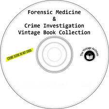 Forensic Medicine and Crime Investigation Vintage Book Collection on CD - CSI