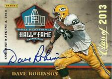 """DAVE ROBINSON SIGNED 2013 PANINI HALL OF FAME """"BLACK FRIDAY"""" ENSHRINEMENT CARD"""