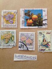Liban-timbres (voir description et photos)