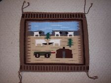Hand Woven Navajo Pictorial  Lifestyle Rug with 5 Sheep by Cecelia Curley, NEW