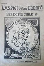 JANVIER 1968 JOURNAL SATIRIQUE POLITIQUE L ASSIETTE AU CANARD LES ROTHSCHILD