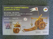 MANTUA MODEL War Carriage 15th Century model kit # 815 Leonardo da Vinci NEW