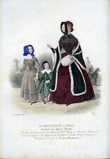 1843 - Gravure n° 21 -  LE MONITEUR DE LA MODE, Enfants