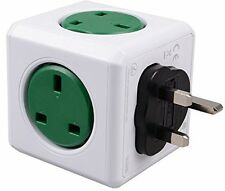 PowerCube 5 Outlets Wall Adapter Power Strips Travel Charger with USB sockets